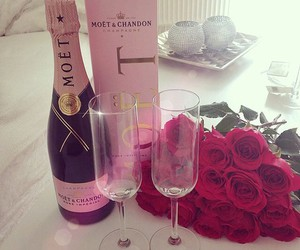 rose, champagne, and pink image