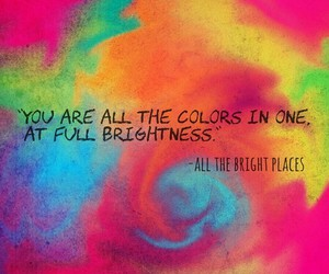 all the bright places, book, and colors image