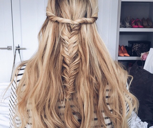 blonde, hair, and hair style image