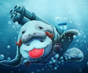 league of legends, urf, and poro image