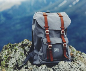 travel, bag, and mountains image