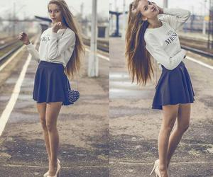 fashion, skirt, and beauty image