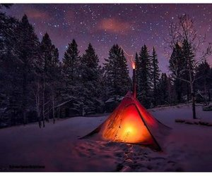 camp, nature, and night image