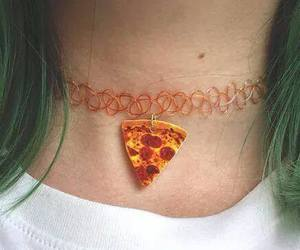 pizza, grunge, and hair image
