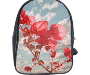 floral prints, flowers prints, and school bags image