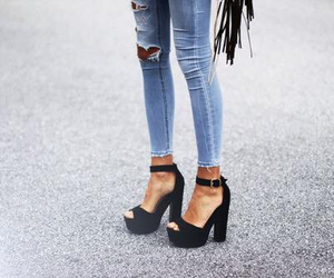 jean, chaussures, and legs image