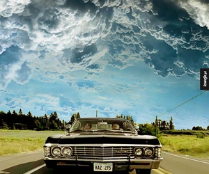 baby, car, and dean winchester image