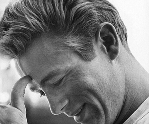 james dean and black and white image