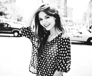 black and white, girl, and victoria justice image