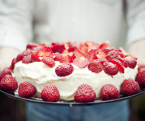 35mm, strawberries, and cake image