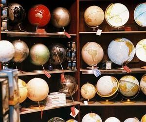 globe, world, and vintage image
