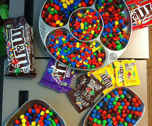 m&m, chocolate, and food image