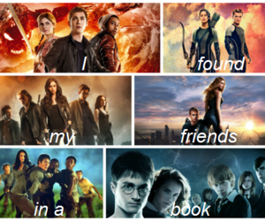 divergent, books, and harry potter image