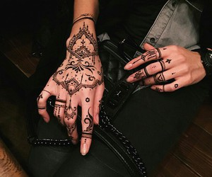 fashion, mendhi, and love image