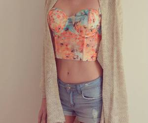 cardigan, floral, and coat image