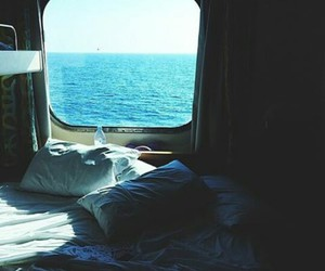bed, sea, and sleep image