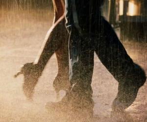 dance, rain, and couple image