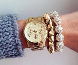 clothes, sweater, and watch image