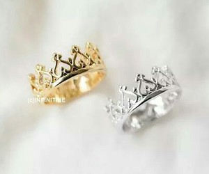 crown, ring, and rings image
