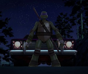 car, tmnt, and donatello image