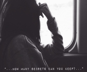 secret, quotes, and sad image