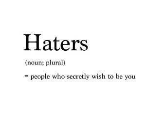 haters, quote, and people image