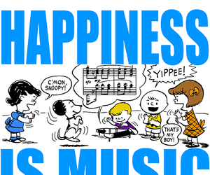 music, peanuts, and snoopy image