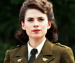 peggy carter, captain america, and hayley atwell image
