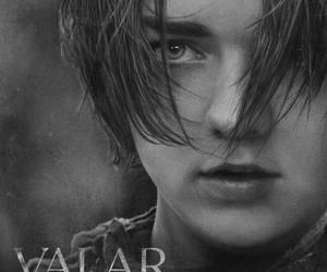 game of thrones, arya stark, and stark image