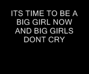 sad, big girls dont cry, and firgie image