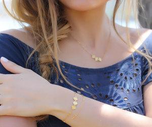 vermeil, bridesmaid bracelet, and everyday simple image