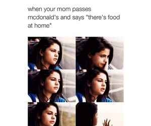 selena gomez, funny, and food image