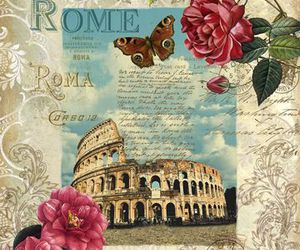 background, coliseo, and flores image
