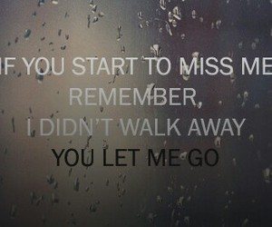 let go and sad image
