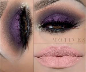 lila, smokey eyes, and violet image