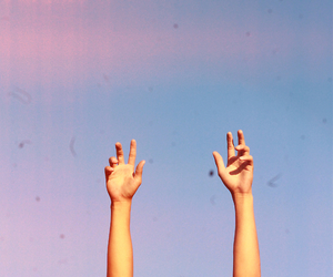hands, sky, and tumblr image