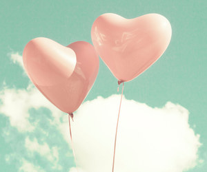 love, sky, and clouds image
