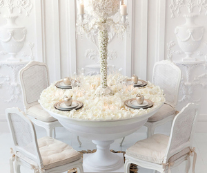 centerpiece, flowers, and white image