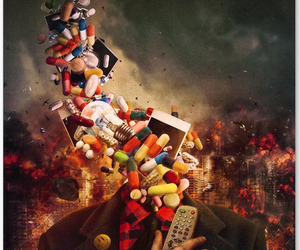 pills, art, and drugs image