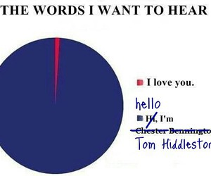 words, tom hiddleston, and love image