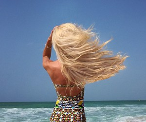 blonde, girl, and summer image