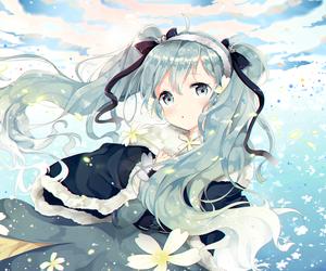 anime girl, blue, and miku hatsune image