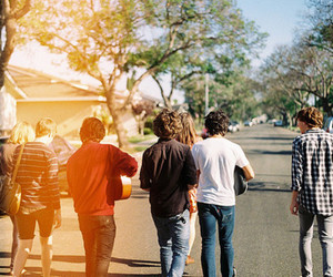 boy, friends, and street image