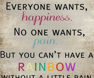 rainbow, quote, and happiness image