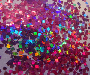 glitter, rainbow, and pink image