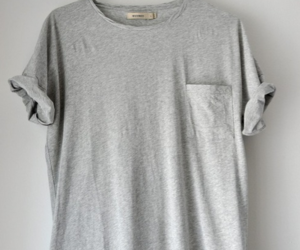 fashion, grey, and shirt image