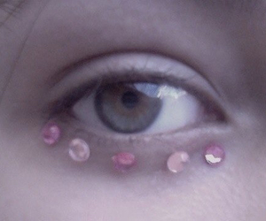 pale, pink, and eye image