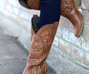 boot, Cowgirl, and shoes image