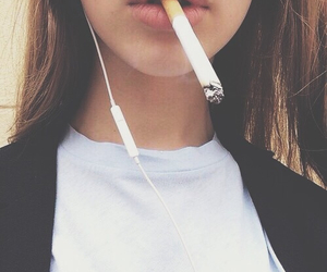 beauty, cigarette, and music image