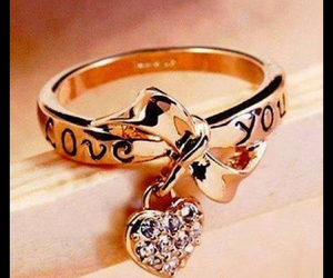 ring, diamantes, and love image